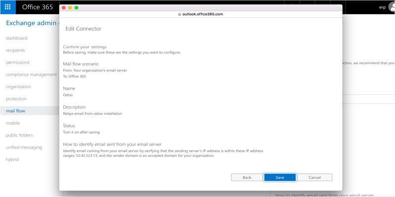office 365 edit connector