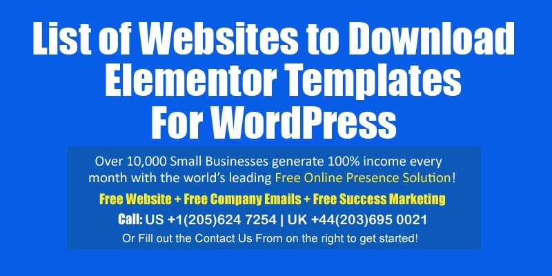 elementor templates for wordpress