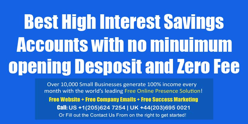 high interest saving account