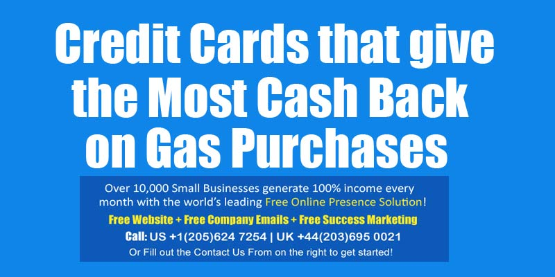 credit card most cash back on gas