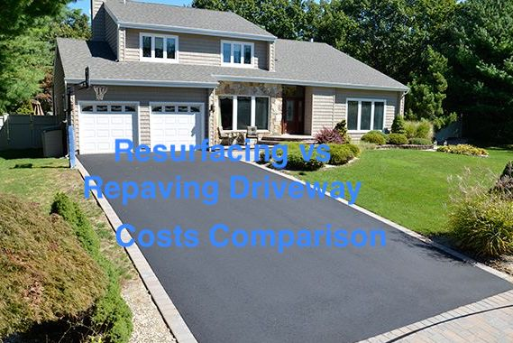 resurfacing repaving driveway costs