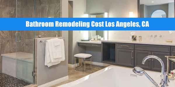bathroom remodeling cost los angeles
