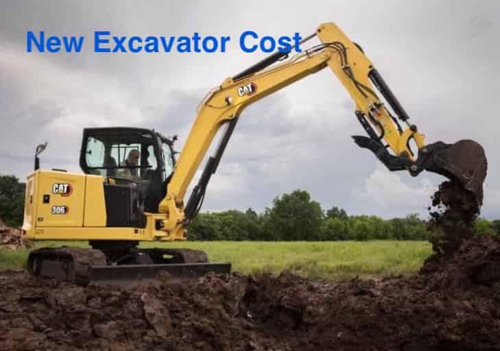 new excavator cost