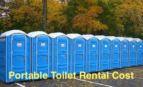 portable toilet rental cost
