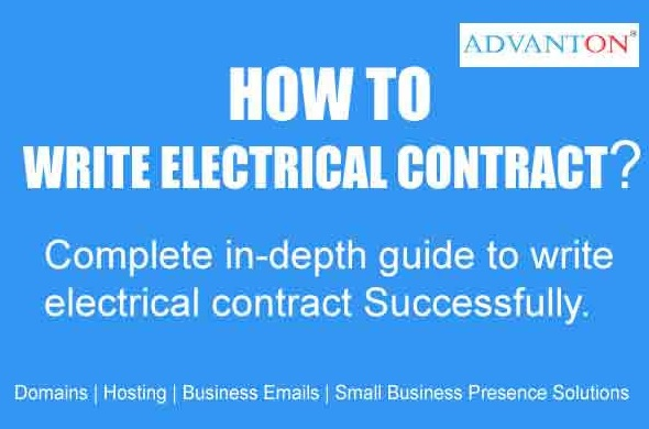 write electrical contract